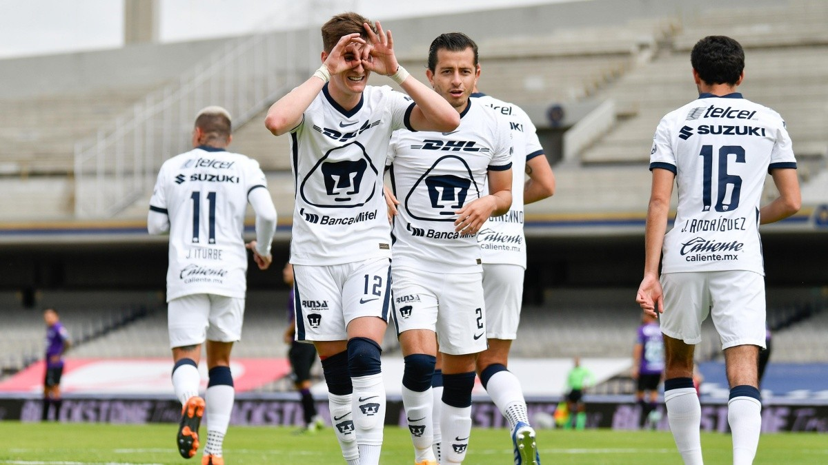 Pumas golea a Mazatlán FC en Ciudad Universitaria y suben al segundo puesto de la tabla
